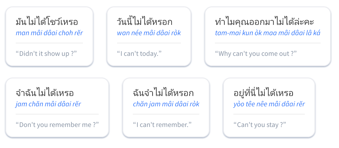 Thai dictionary, designed for learners of Thai